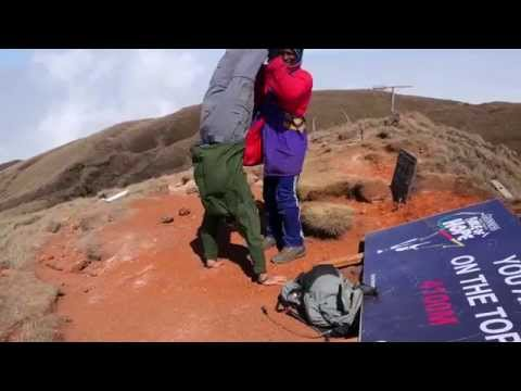 Handstand on the Summit of Mount Cameroon