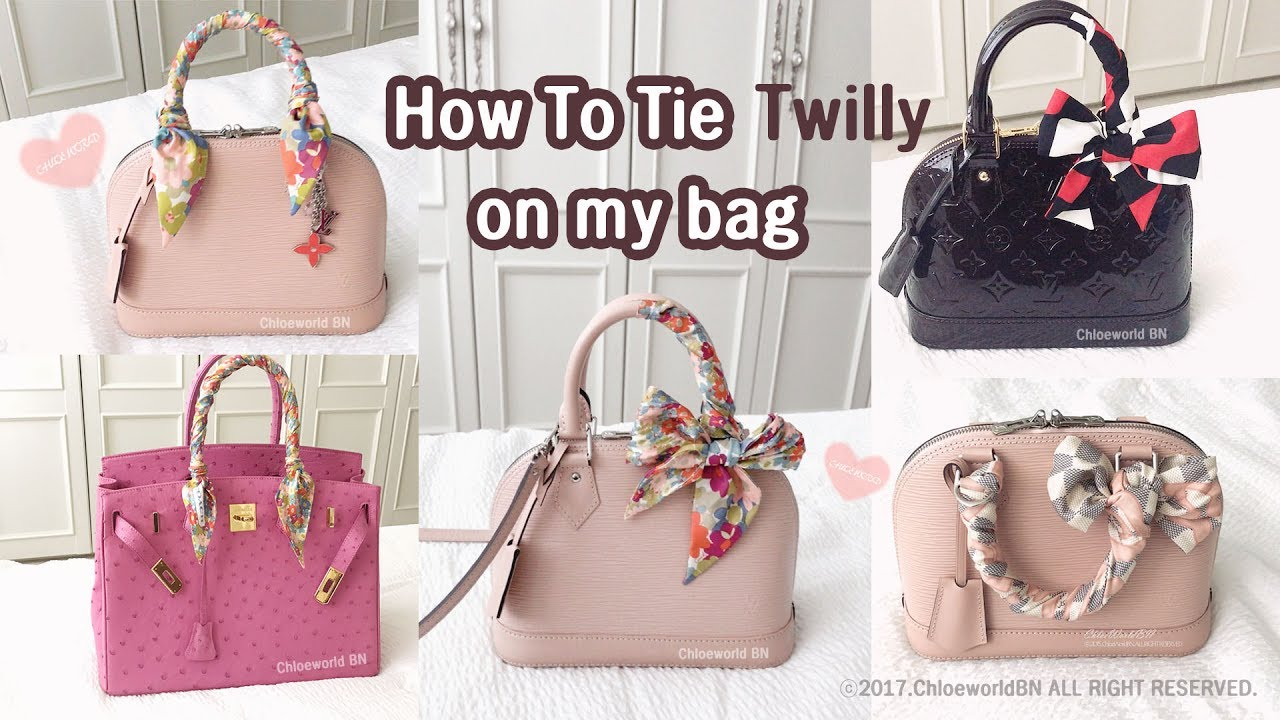 bf841c755b80b How To Tie Twilly Scarf On a Bag Handle - YouTube