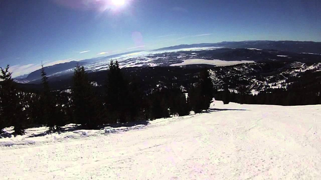 whitefish mountain resort toni matt run on big mountain - youtube