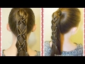 Criss Cross Woven Ponytail Hairstyle