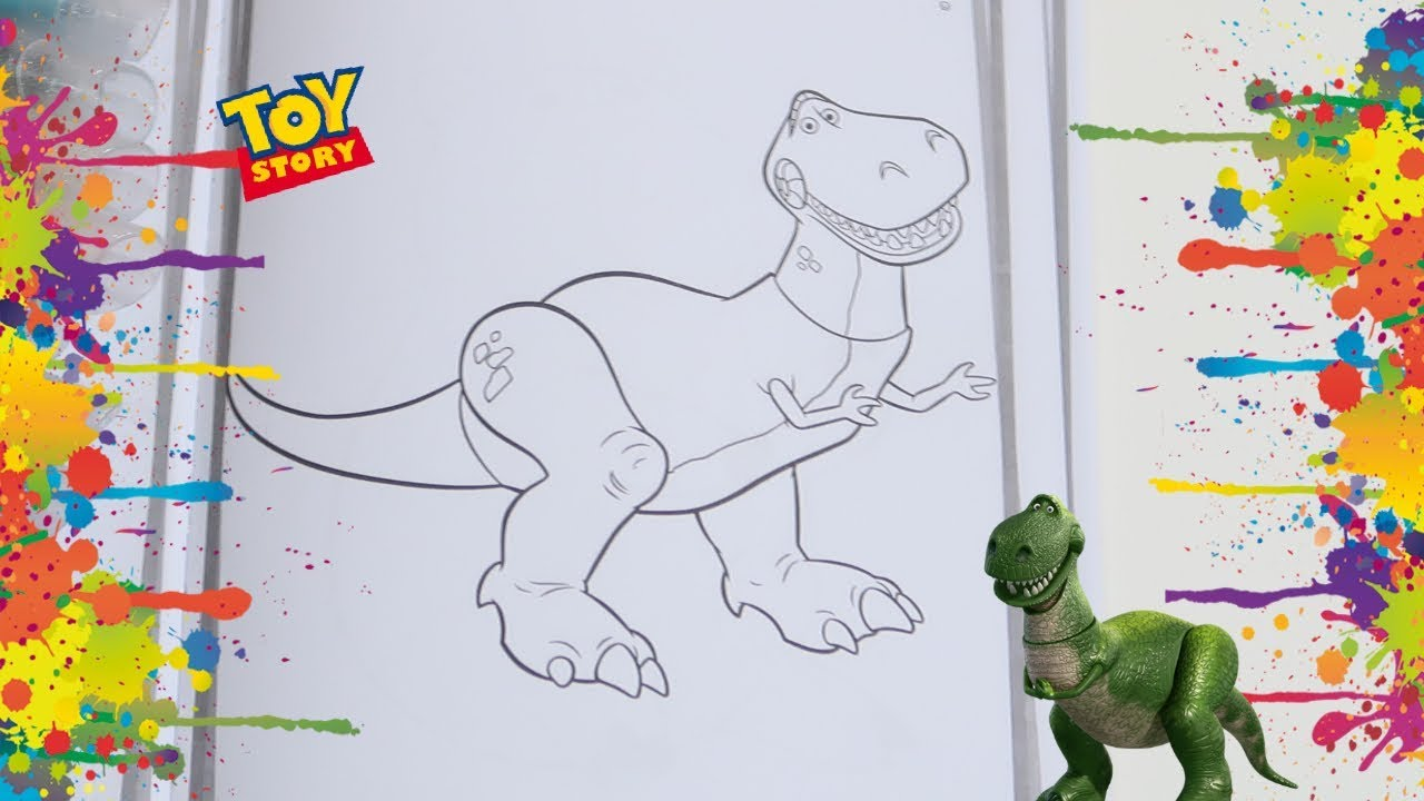 Colorindo Dinossauro Rex Toy Story Youtube