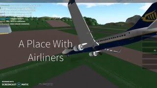 Roblox - A place with Airliners - Top Plane Crashes