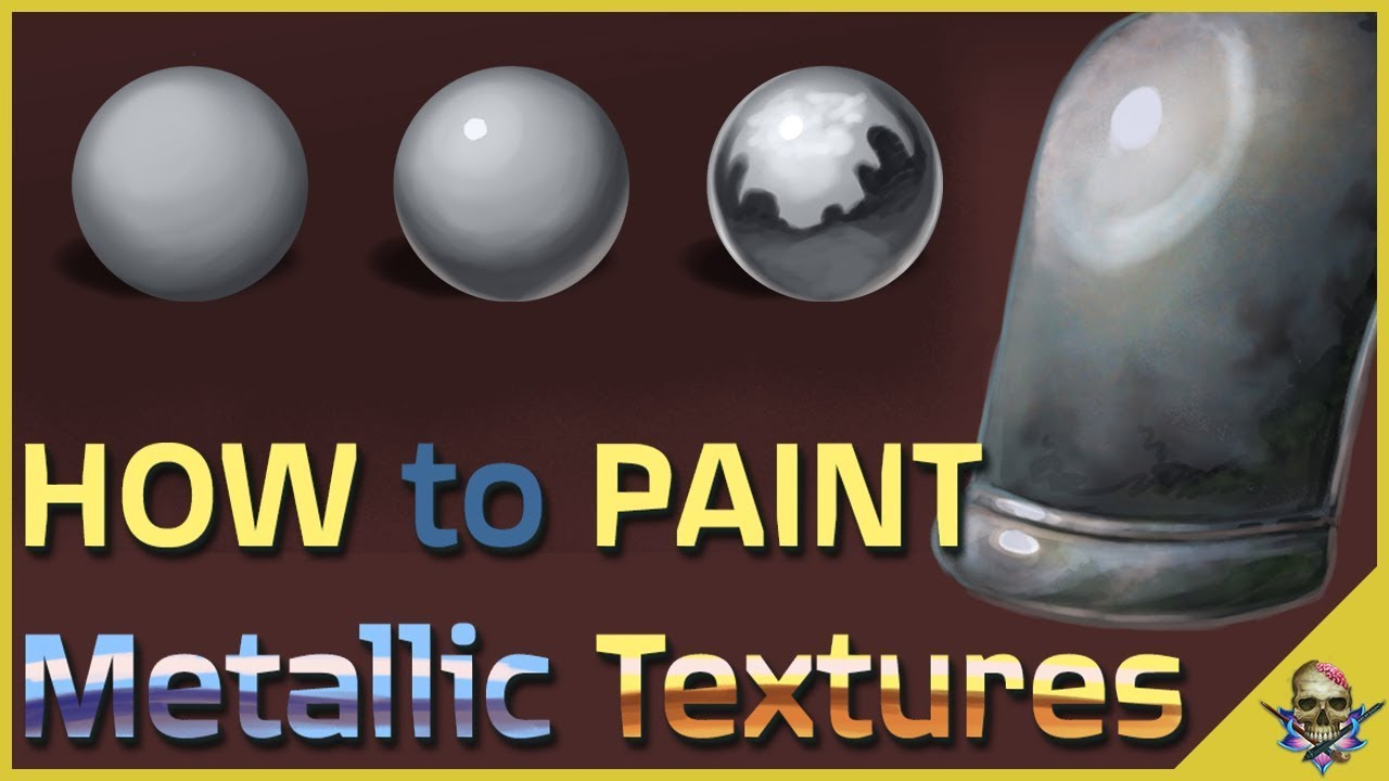 How To Paint Metal And Reflective Textures Digital Art Tutorial