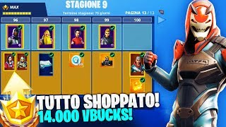 "SHOPPO ALL the ""NEW"" PASS BATTLE! SEASON 9 Fortnite ITA!"