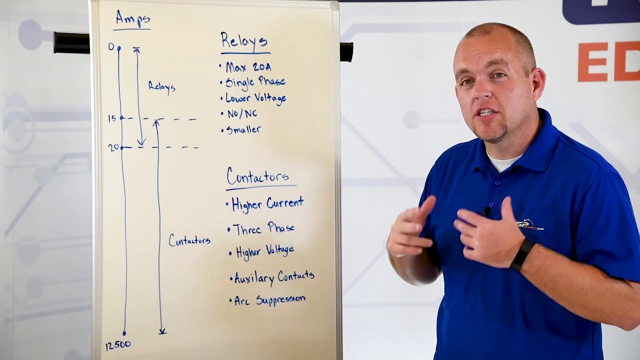 Differences Between Relays and Contactors YouTube