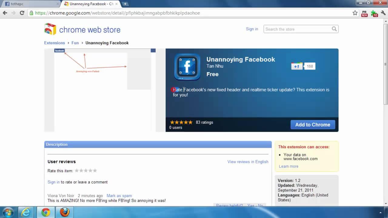 get back old fixed top navigation bar on facebook youtube