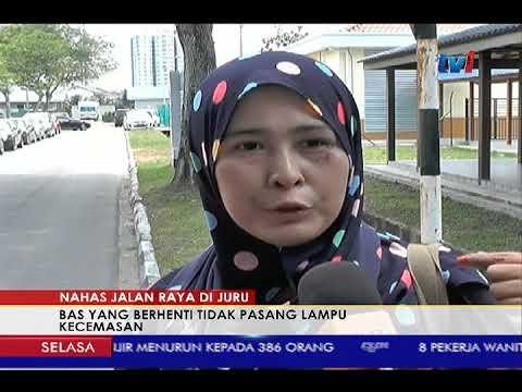 TRAGEDI KEMALANGAN BAS DI JURU - BAS YANG BERHENTI TIDAK PASANG LAMPU KECEMASAN [24 OKT 2017]