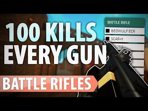 Download 100 Kills With Every Gun - Battle Rifles!