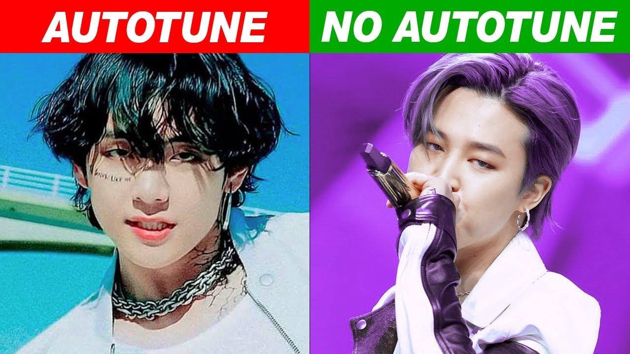 Kpop Idols Autotune Vs No Autotune Mv Vs Live Part 7 Youtube