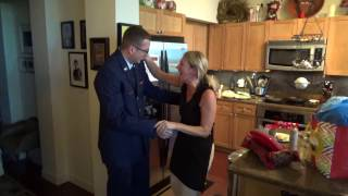 Joshua Surprises Mom By Coming Home For Christmas