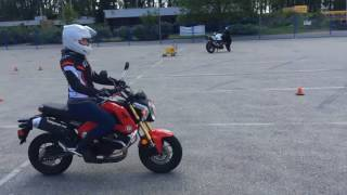 Motorcycle Skills Assessment Test