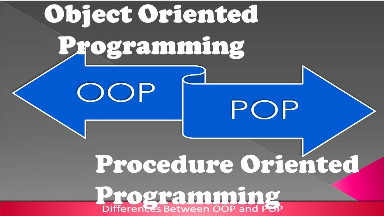 Difference Between Structured Programming and Object Oriented Programming