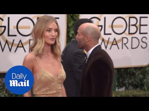 Rosie Huntington-Whiteley Sparkles At The 2016 Golden Globes - Daily Mail