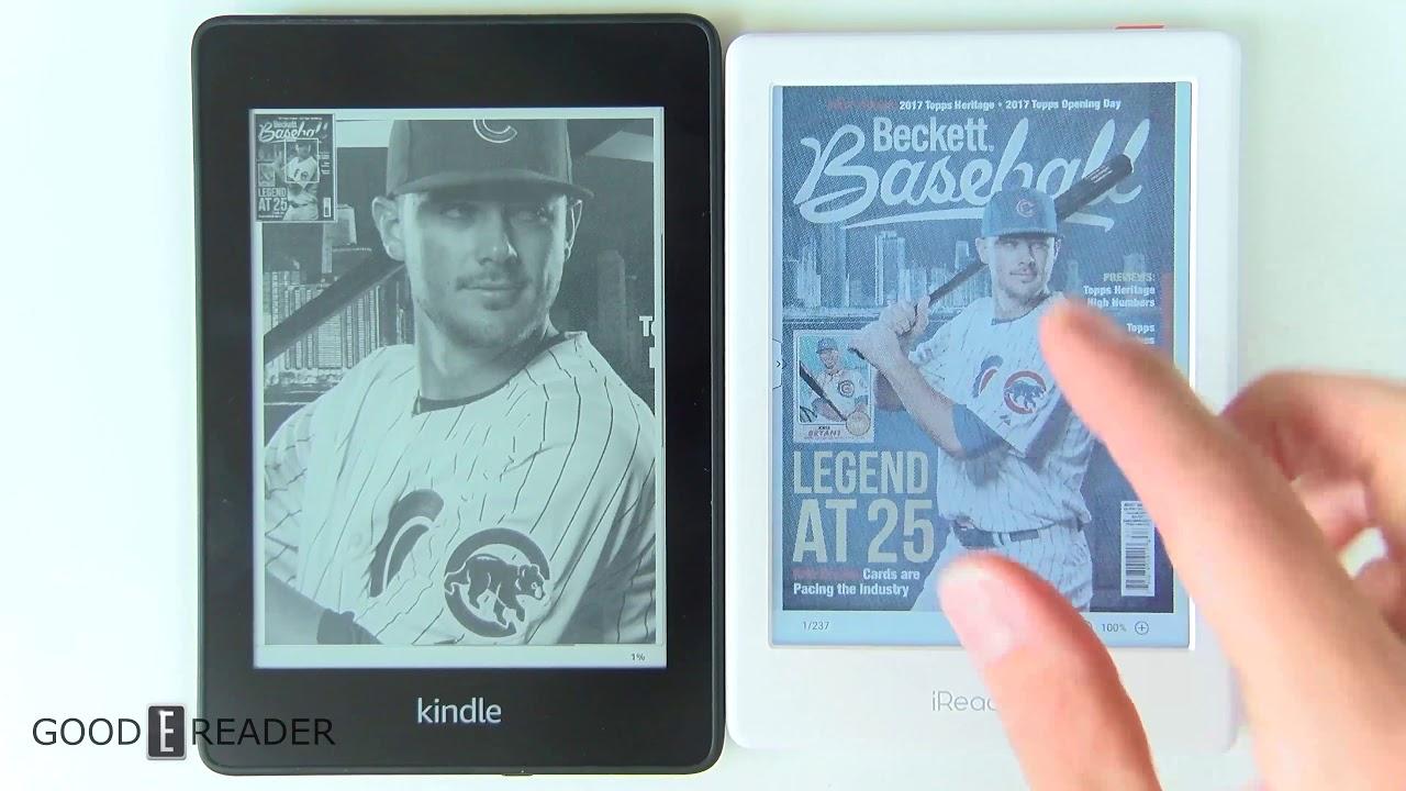 Color e-Ink vs Amazon Kindle Paperwhite 4