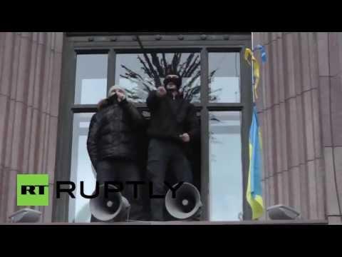 Ukraine protesters storm Kiev city council