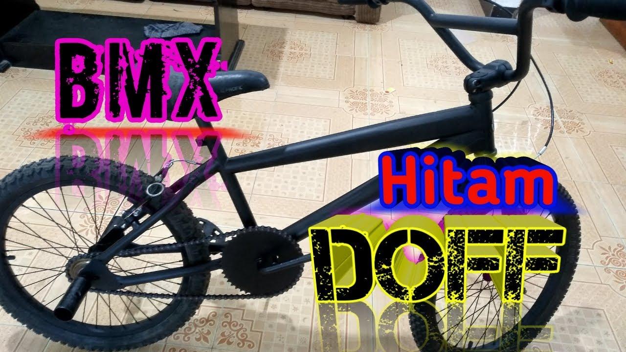 Mengecat Ulang Sepeda Bmx Hitam Doff Youtube
