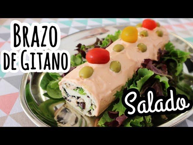 BRAZO DE GITANO SALADO CON PAN DE MOLDE | Aperitivos Fáciles y Rápidos