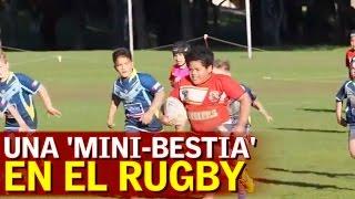 El niño de 8 años que es un coloso al rugby: ¡vaya 'bestia'!