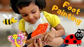 Foot Painting Ideas for Kids | ButterFly | HoneyBee | LadyBug | Painting