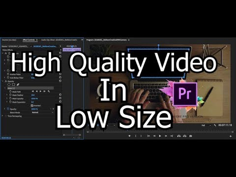 How To Export HIGH QUALITY Video In LOW SIZE - Premiere Pro