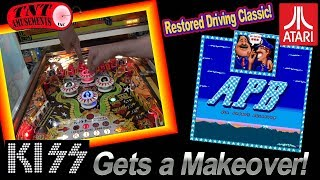 #1375 Bally KISS Pinball Machine Restoration & Atari APB Arcade Video GAME- TNT Amusements