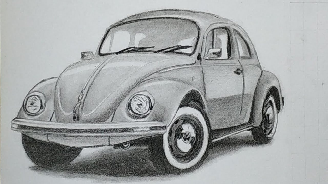 Menggambar Vw Beetle Vw Kodok Youtube