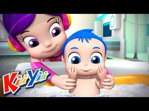 La chanson du bain | Comptines Pour Bébé | Dessins Animés | KiiYii en Français