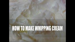 How to make Whipping Cream. Bita Smietana Episode #22