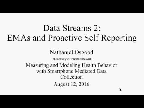 EMAs and Proactive Self Reporting in mobile data collection