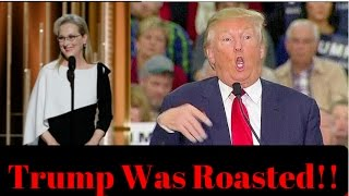 Repeat youtube video Donald Trump Gets Roasted By Meryl Streep At The Golden Globes!  Ep. #64