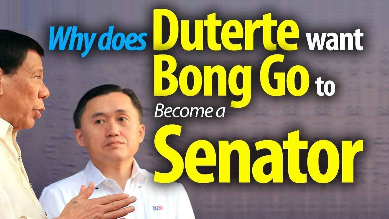 Duterte wants Bong Go to become a Senator ~Share