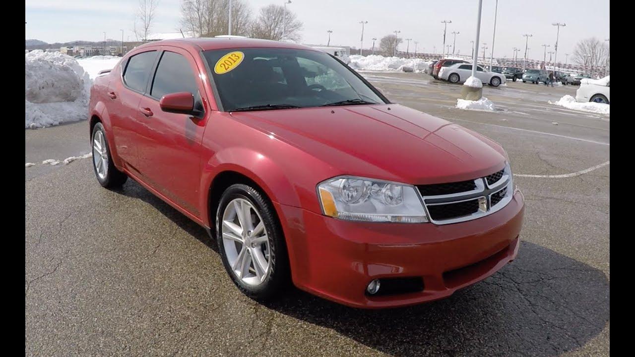 Used 2013 Dodge Avenger Sxt Red For Sale Martinsville Indiana