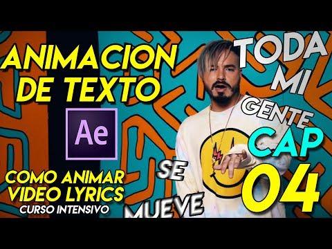 Tutorial || Como animar videolyrics - Animacion de Texto y Camara en after effects