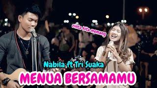 Download Mp3 Menua Bersamamu - Trisuaka Ft Nabila  Lirik  Live Akustik - Pendopo Lawas