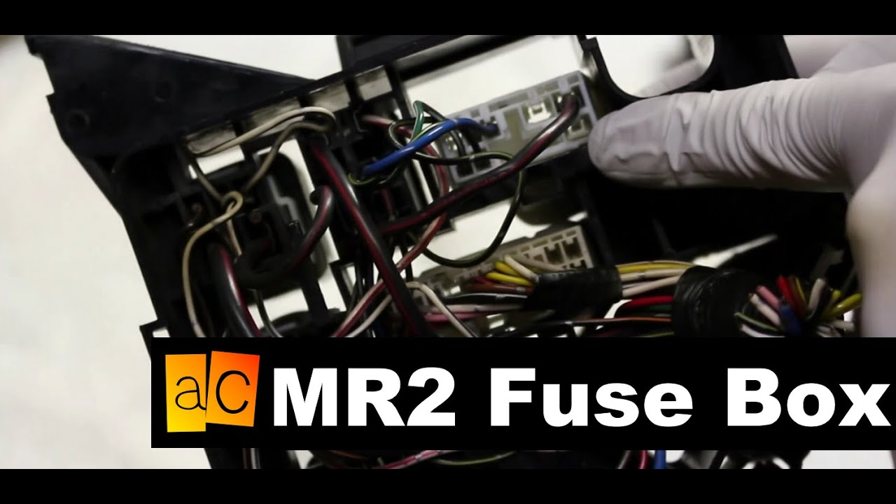 mr2 jdm 3s gte engine swap the fuse box youtube rh youtube com 1991 mr2 fuse box location 1991 mr2 fuse box diagram
