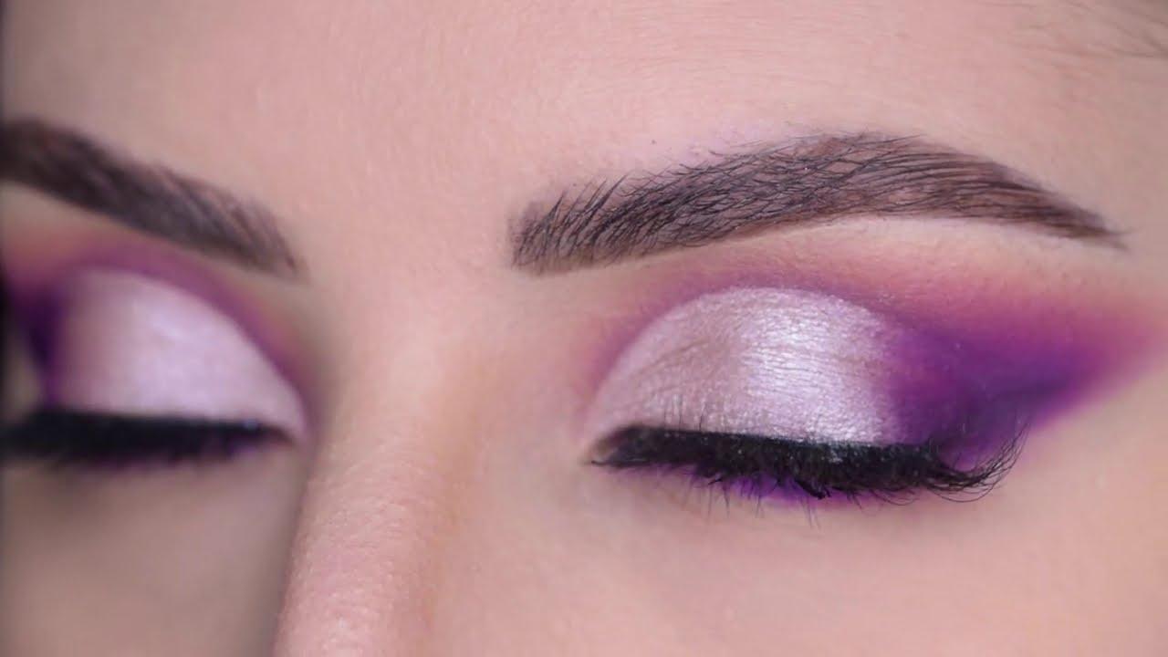 مكياج بنفسجي كت كريس قوي خطوة بخطوة  | purple cut crease makeup tutorial