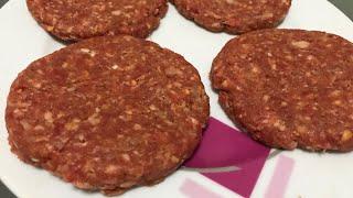 En Lezzetli Hamburger Köftesi Tarifi - Hamburger Köftesi Kalıbı Nasıl olur?