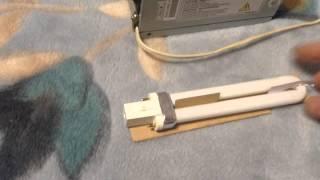 как подключить электронный балласт к УФ лампе