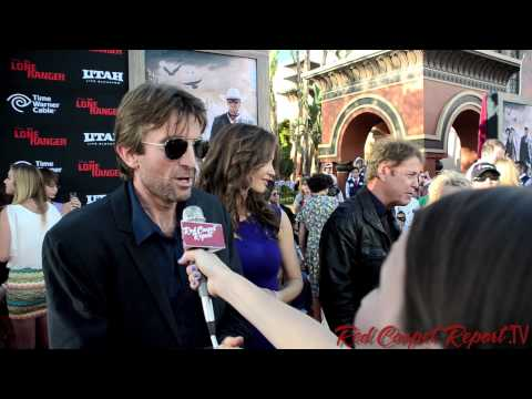 Sharlto Copley at the World Premiere of The Lone Ranger