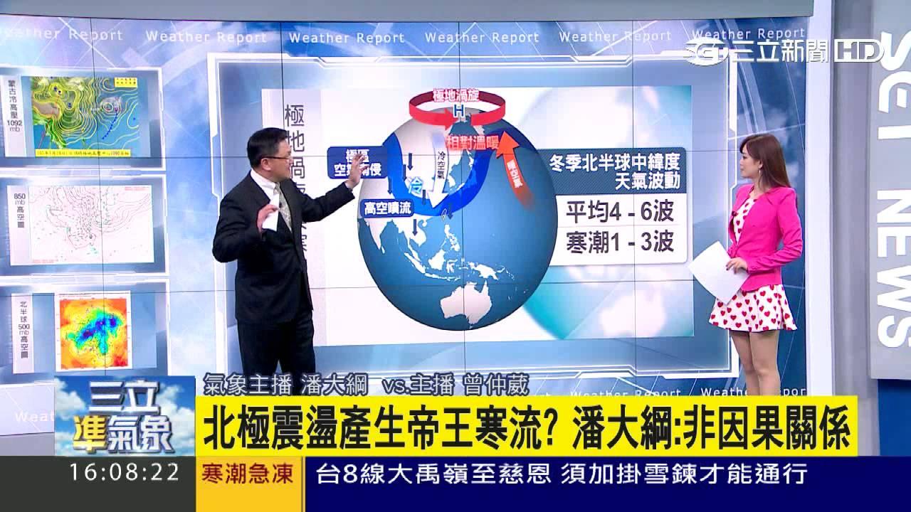 【氣象博士潘大綱】北極震盪增加寒流強度 比往年更凍|三立準氣象|20160124|三立新聞臺 - YouTube