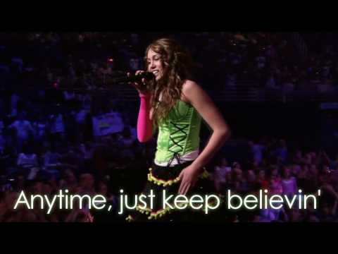 Miley Cyrus - Right Here LIVE (With Lyrics) HD
