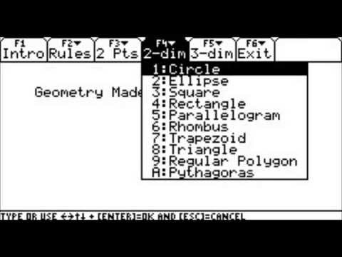 ▷Geometry Made Easy - Step by Step ✅ - using the TI89
