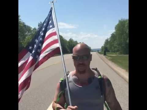 Marine vet walks 43 miles in U.P. to honor fallen soldiers