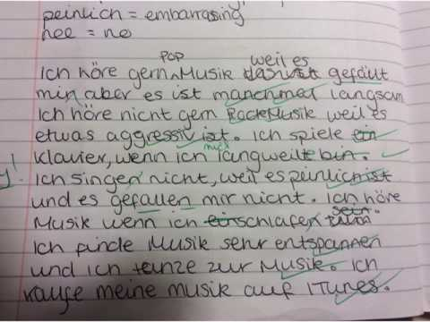 Year 9 music paragraph