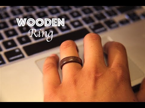 How To Make a Simple Wooden Ring! | Walnut.