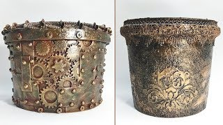 2 ideas how to make flower pots with your own hands