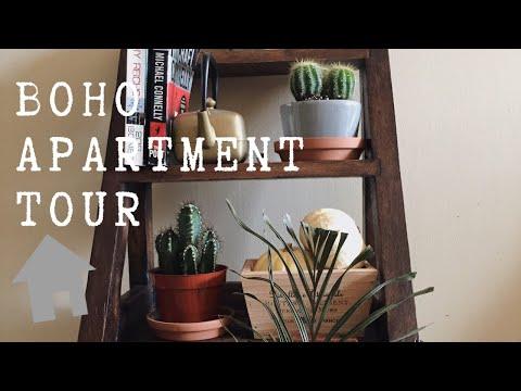 SMALL BOHO APARTMENT TOUR 2019 MODERN | APARTMENT DECORATING IDEAS ON A BUDGET