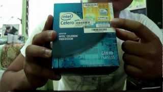 cpu intel celeron g1610 lga 1155 22nm ivy bridge unboxing hd
