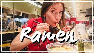 Trying Ramen Noodles in Osaka, Japan