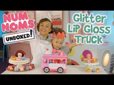 Unboxed!  Num Noms  Season 2 Episode 1: Glitter Lip Gloss Truck
